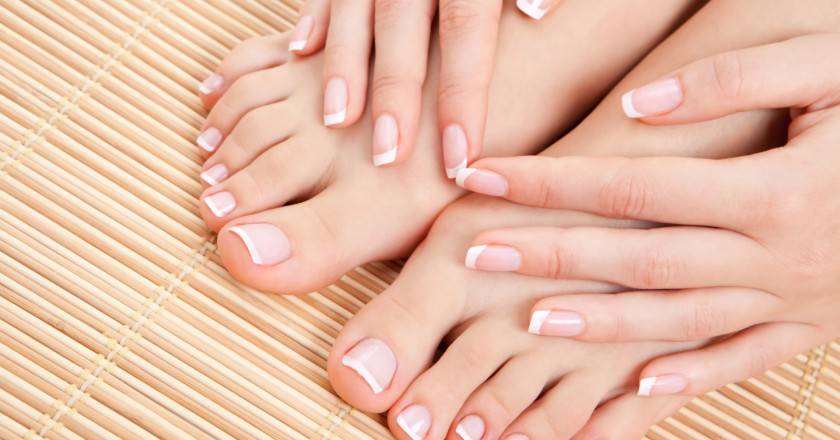 unhas dos pés e das mãos saudáveis
