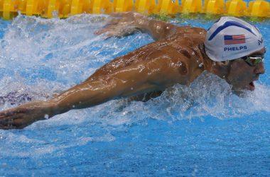 michael phelps nadando ventosas