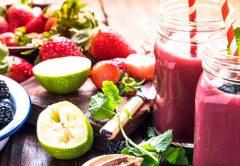 smoothie detox frutas vermelhas