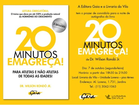 Convite para o lançamento do livro