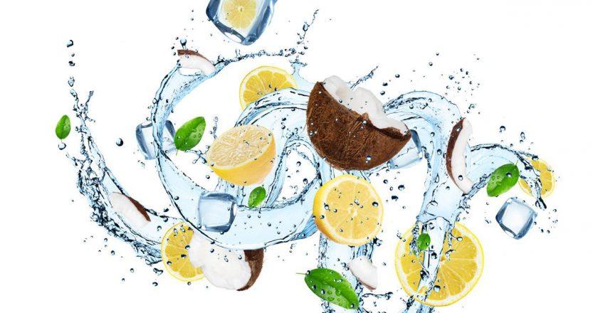 smoothie detox limao e coco