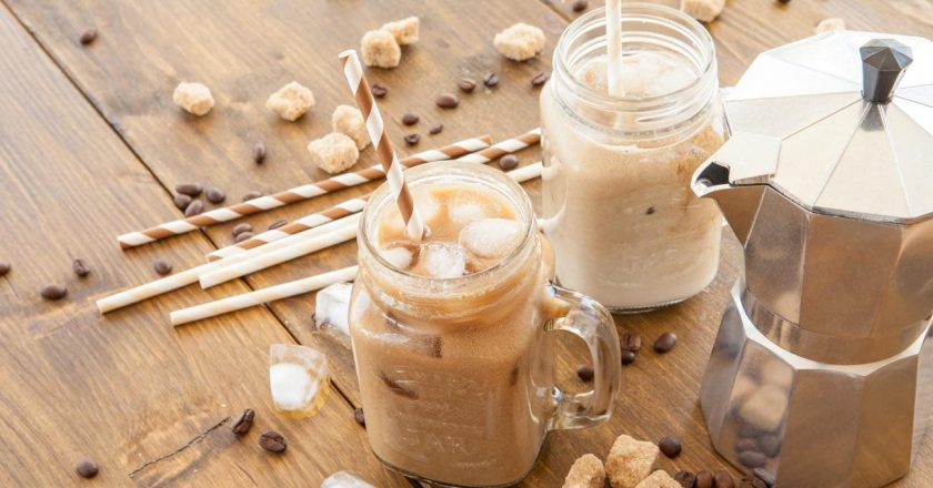 smoothie gelado de bulletproof coffee